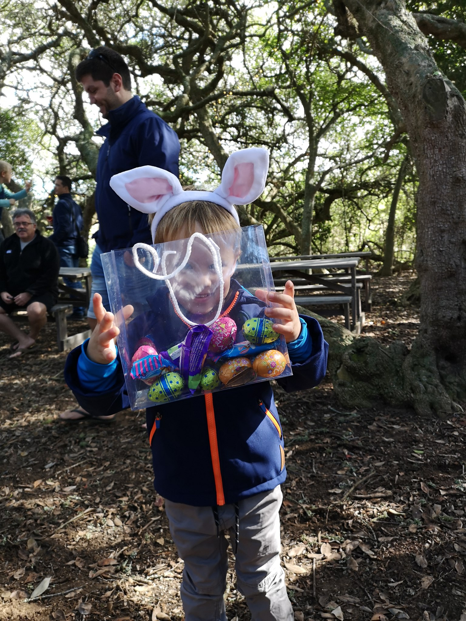 Easter Egg Hunt in the Forest
